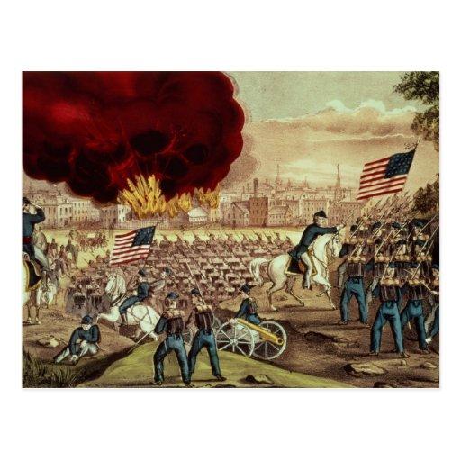 A captação de Atlanta pelo exército de união Cartões Postais