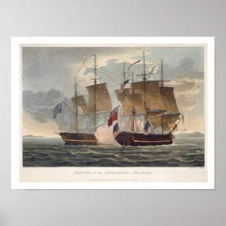 A captação do Chesapeake, o 1º de junho de 1813, e Poster