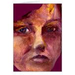 A cara da mulher emocional cartoes