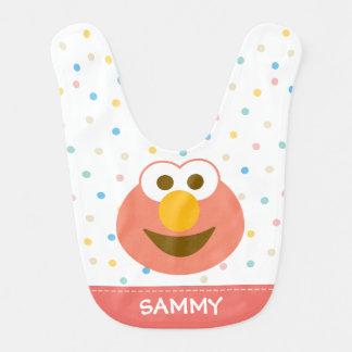 A cara grande | do bebê de Elmo adiciona seu nome Babador