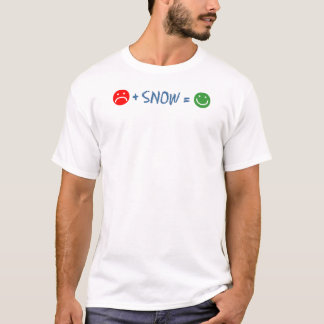 A cara triste mais a neve iguala feliz camiseta