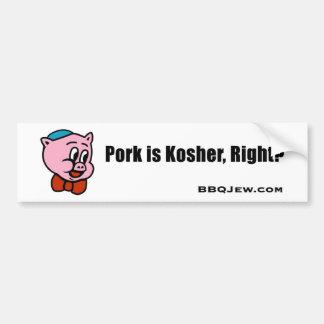 A carne de porco é autocolante no vidro traseiro K Adesivo Para Carro