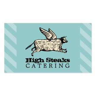 a carne de vaca feita sob encomenda do vôo da cor cartão de visita