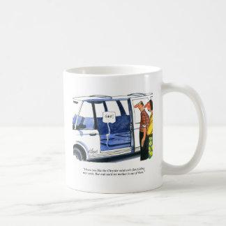 A carrinha assenta desenhos animados caneca de café