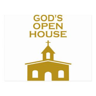 A casa aberta do deus cartão postal