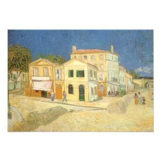 A casa amarela pela mudança de Van Gogh de endereç Convites