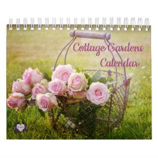 A casa de campo jardina calendário