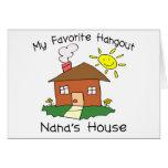 A casa de Nana favorita do lugar frequentado Cartoes