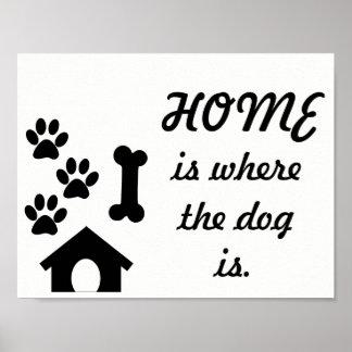 A casa do impressão da pata é o lugar onde o cão
