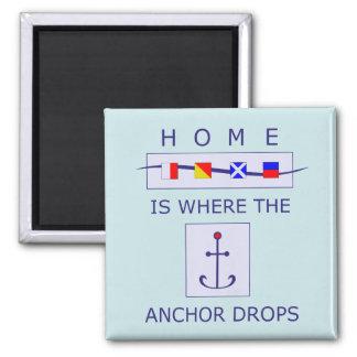 A casa é o lugar aonde a âncora deixa cair o ímã ímã quadrado