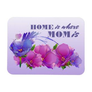 A casa é o lugar onde a mamã está. Ímãs do