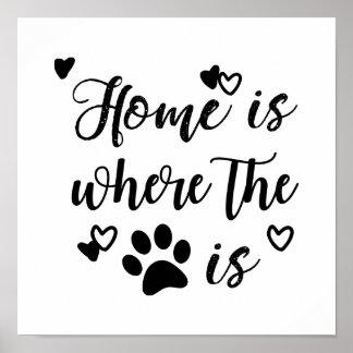 A casa é o lugar onde a pata é poster