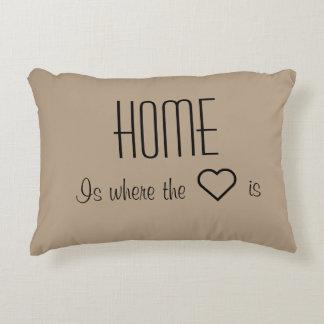 A casa é o lugar onde o coração é travesseiro almofada decorativa