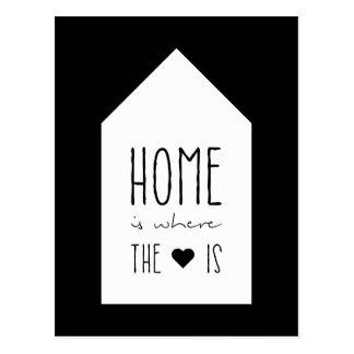 A casa é o lugar onde o coração está - cartão