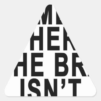 A CASA É O LUGAR ONDE o SUTIÃ NÃO É T-SHIRT.png Adesivo Triangular