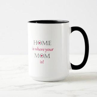 A casa é o lugar onde sua mamã é caneca