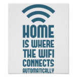 A casa é o lugar onde WIFI conecta automaticamente Poster