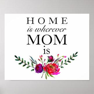 A casa é onde quer que a mamã é - poster do dia