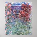 A casa em Giverny sob os rosas, 1925 Posteres