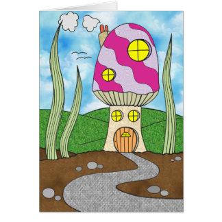 A casa feericamente do Toadstool caçoa o cartão