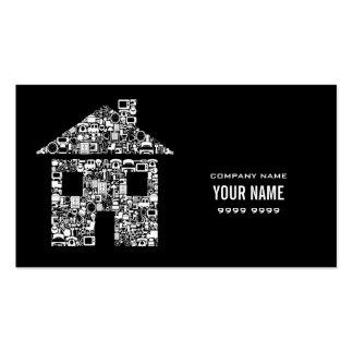 A casa moderna da casa presta serviços de manutenç cartao de visita