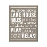 A casa personalizada do lago family ordena o branc impressão de canvas esticada