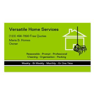 A casa presta serviços de manutenção a cartões de  cartao de visita