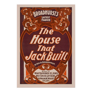 A casa que Jack construiu artes de palco do Pôster