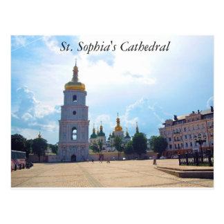 A catedral de Sophia do santo. Cartão de Kiev,