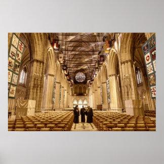 A catedral do nacional de Washington Poster