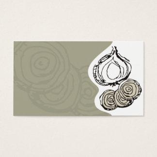 a cebola doodles o cartão de visita da restauração