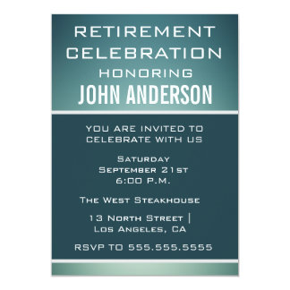 A celebração do partido de aposentadoria de homens convite 12.7 x 17.78cm
