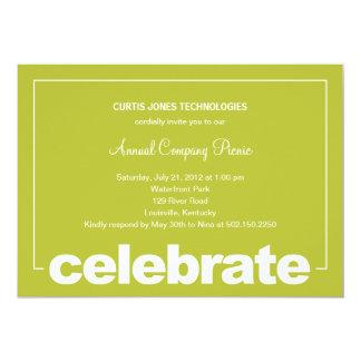 A celebração moderna incorporada/partido do convite 12.7 x 17.78cm
