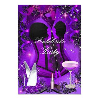 A celebração roxa Bachelorette da faísca convida Convite 8.89 X 12.7cm