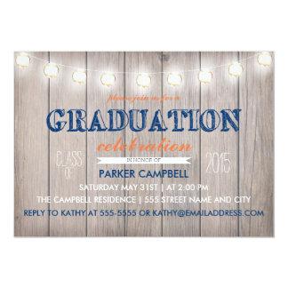 A celebração rústica da graduação convida convite 12.7 x 17.78cm