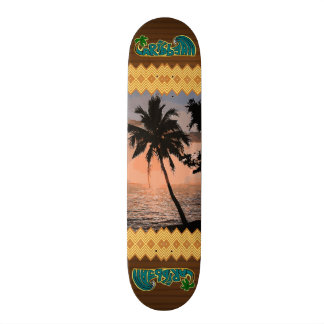 A cena das caraíbas da palma shape de skate 18,1cm