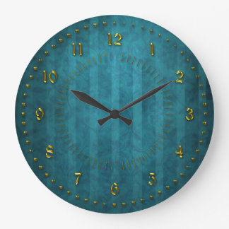 A cerceta de TTurquoise descascou numerado Relógio Grande