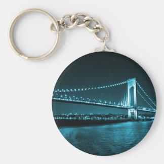 A cerceta reduz o chaveiro da ponte