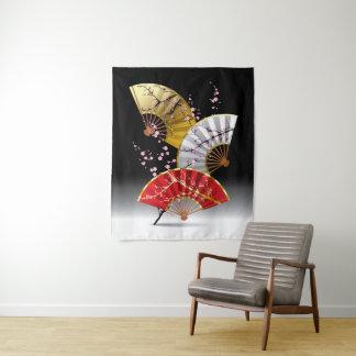 A cereja japonesa ventila a tapeçaria média da
