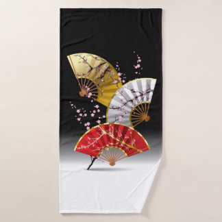 A cereja japonesa ventila a toalha de banho