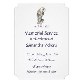 A cerimonia comemorativa convida a coruja de celei convites