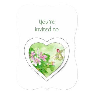 A cerimonia comemorativa convida o colibri da convite personalizados