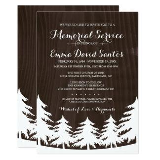 A cerimonia comemorativa escura da floresta convite 12.7 x 17.78cm