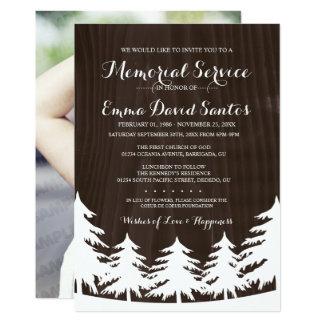 A cerimonia comemorativa escura da floresta da convite 12.7 x 17.78cm