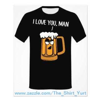 A cerveja ama-o, homem flyer 11.43 x 14.22cm