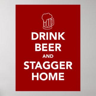 A cerveja da bebida e desconcerta em casa poster