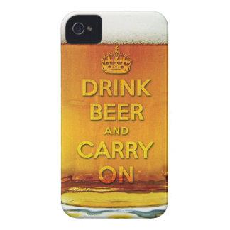 A cerveja engraçada da bebida e continua capa para iPhone