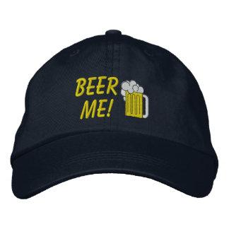 A cerveja mim bordou o chapéu boné bordado