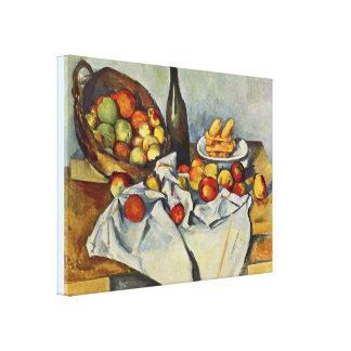 A cesta das maçãs por Paul Cezanne Impressão Em Tela