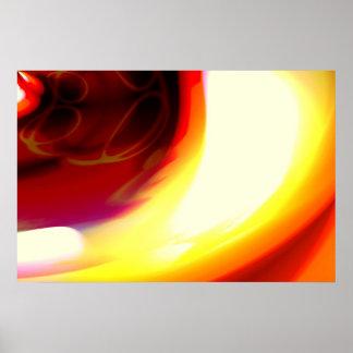 A chama - impressão abstrato do poster da arte de